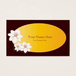 Plumeria Spa Business Card Templates