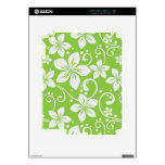 Plumeria Swirl Lime Decal For The iPad 2