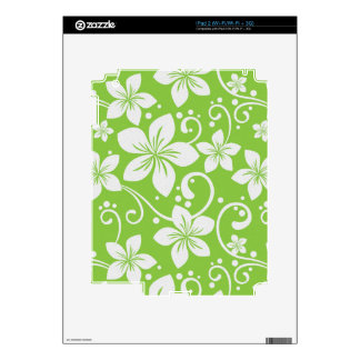 Plumeria Swirl Lime iPad 2 Decal
