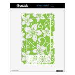 Plumeria Swirl Lime Kindle Decals