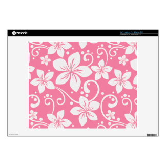 Plumeria Swirl Pink 1 Laptop Decal