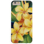Plumeria tropical del paraíso floral funda de iPhone 6 plus barely there