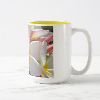 Plumeria Two-Tone Coffee Mug