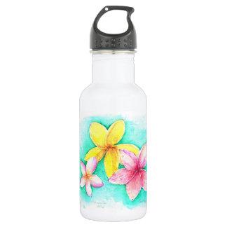 Plumeria Water Bottle