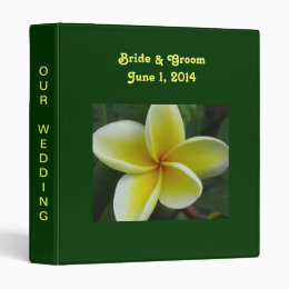Plumeria Wedding Binder