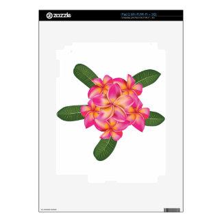 Plumeria with leaves iPad 2 skin