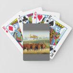 Plumero de la cosecha baraja cartas de poker