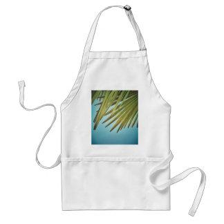 Plumero de palmera al cielo de verano delantal