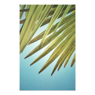 Plumero de palmera al cielo de verano papelería personalizada
