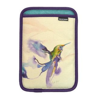 """""""Plumes of Purple"""" Hummingbird Print Sleeve For iPad Mini"""