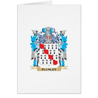 Plumley Coat of Arms - Family Crest Greeting Cards