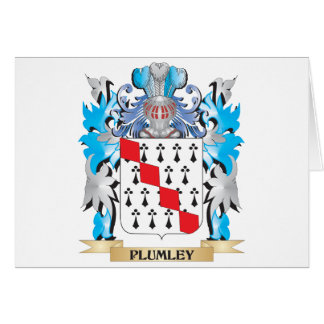 Plumley Coat of Arms - Family Crest Card