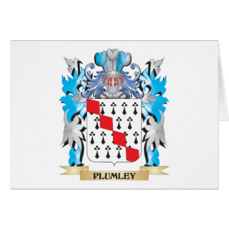 Plumley Coat of Arms - Family Crest Cards