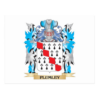Plumley Coat of Arms - Family Crest Post Card