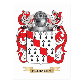 Plumley Coat of Arms (Family Crest) Postcards