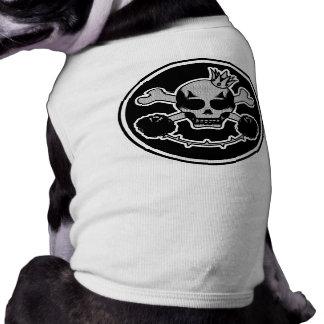 plumón para perro skullhead playera sin mangas para perro