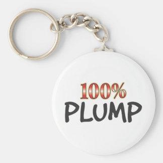 Plump 100 Percent Basic Round Button Keychain