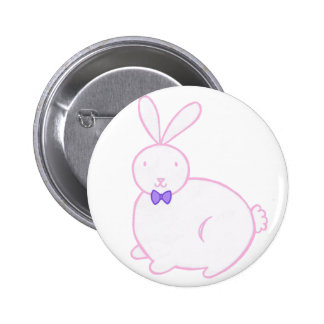 Plump Bunny Pinback Button