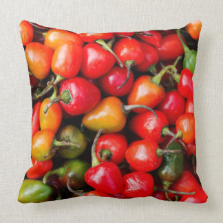Plump Cherry Peppers Throw Pillow