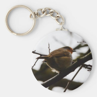 Plump English Robin Keychain