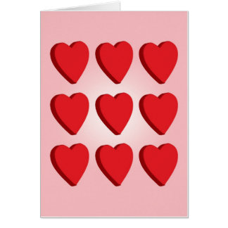 Plump Hearts! Greeting Card
