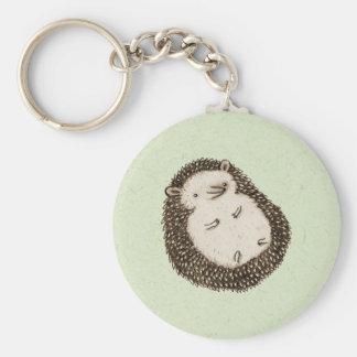 Plump Hedgehog Basic Round Button Keychain