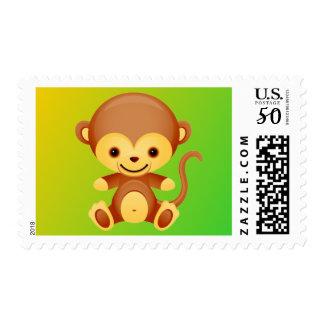 Plump Little Monkey Postage