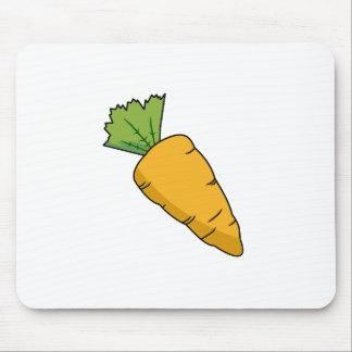Plump Orange Cartoon Carrot Mouse Pad