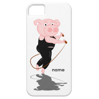 Plump Pig Jumping Rope iPhone 5 Case
