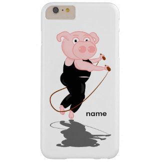 Plump Pig Jumping Rope Barely There iPhone 6 Plus Case