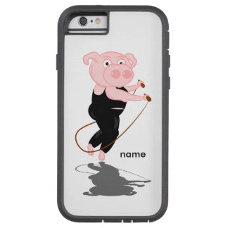 Plump Pig Jumping Rope Tough Xtreme iPhone 6 Case