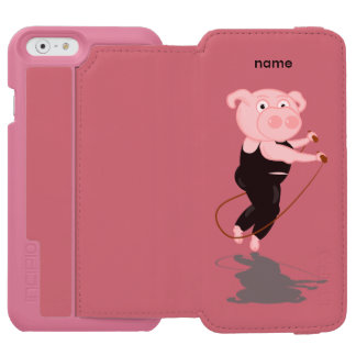Plump Pig Jumping Rope Incipio Watson™ iPhone 6 Wallet Case