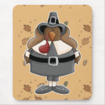 plump pilgrim turkey mouse pad