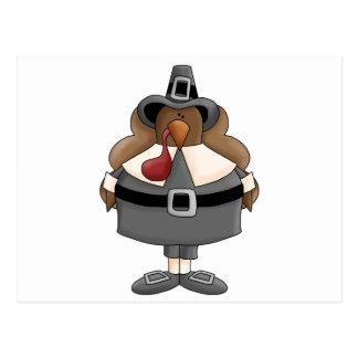 plump pilgrim turkey postcard