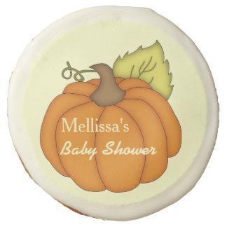 Plump Pumpkin Baby Shower Edible Favors Sugar Cookie