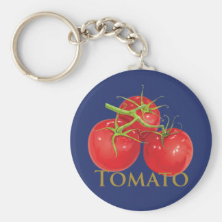 Plump Red Tomatoes Basic Round Button Keychain