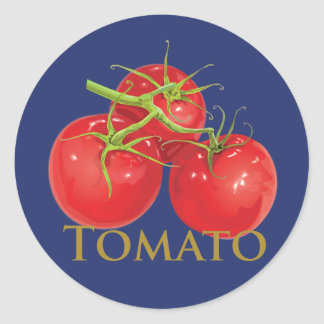 Plump Red Tomatoes Classic Round Sticker