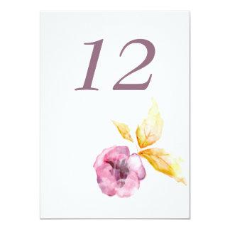 "Plumrose Table Number Card 4.5"" X 6.25"" Invitation Card"