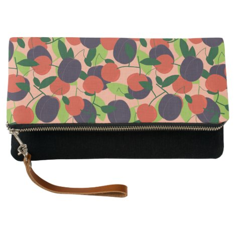 Plums and cherries clutch