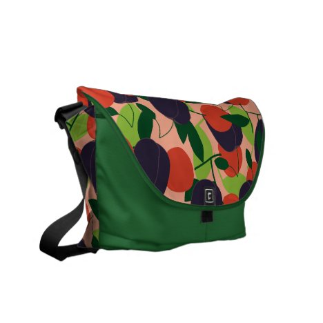 Plums and cherries courier bag