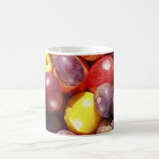 plums and fruit lille, plums and lemonslille fr... classic white coffee mug