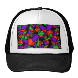 Plums and peaches trucker hat