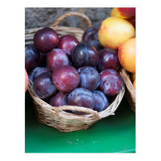 plums in the basket postcard