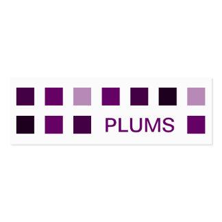 PLUMS (mod squares) Business Card Templates