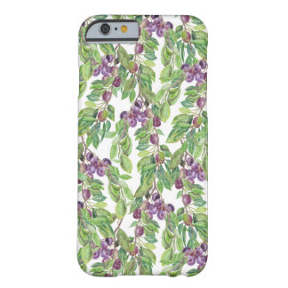 Plums watercolor pattern barely there iPhone 6 case