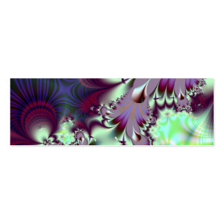 Plumule · Arte del fractal · Púrpura y aguamarina Tarjetas De Visita Mini