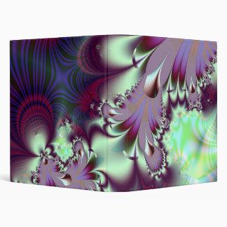 Plumule · Fractal Art · Purple & Aqua Binder
