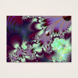 Plumule · Fractal Art · Purple & Aqua Business Card