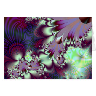 Plumule · Fractal Art · Purple & Aqua Card