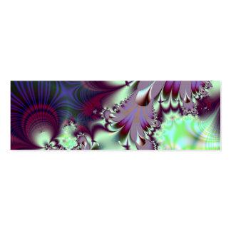 Plumule · Fractal Art · Purple & Aqua Double-Sided Mini Business Cards (Pack Of 20)